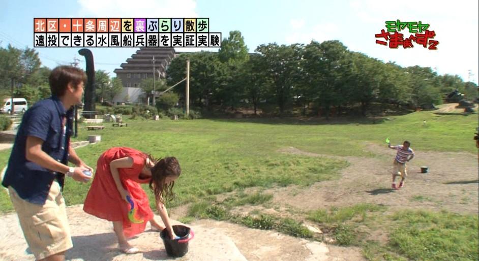 福田ちゃんの透け透けドレスが濡れてさらに透け透けに
